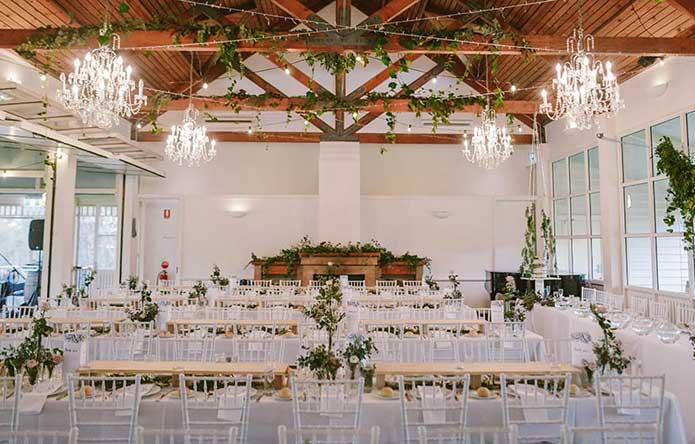 Weddings at Wandin reception